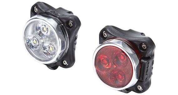 Lezyne Zecto Drive Zestaw oświetlenia rowerowego srebrny